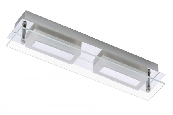 LED-Bad-Wandleuchte 12 W Warm-Weiß Briloner 2262-028 Surf Chrom