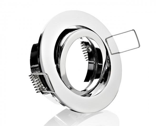 Einbaurahmen aus Aluminium- Rund Klickverschluss / Bajonett Chrom