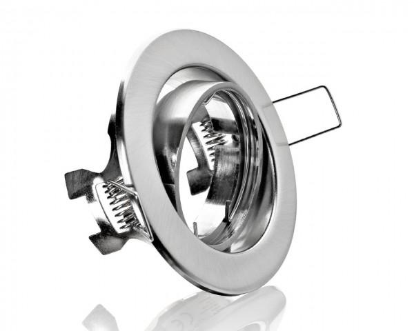 Einbaurahmen aus Metall - Rund Spannring Edelstahl Optik