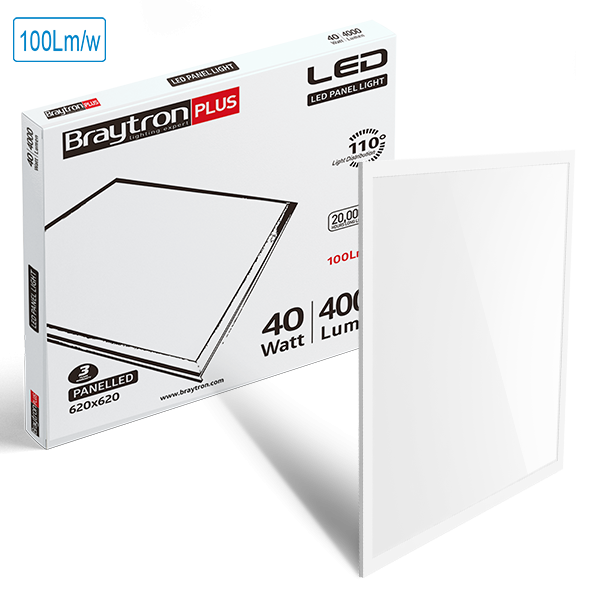 LED Panel Registerleuchte 40W = 4000 Lumen Kaltweiß