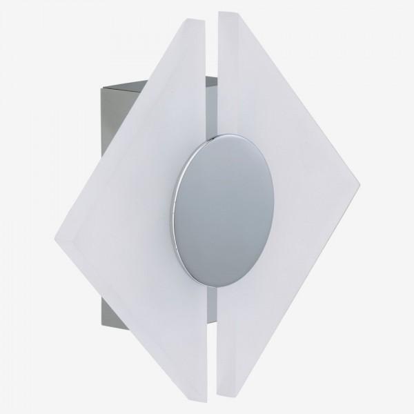 LED-Wandleuchte 'Opaco' chromfarben 5 W Raute