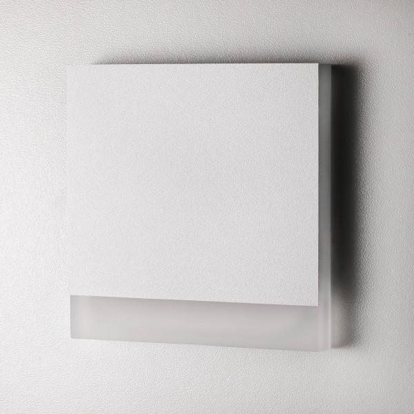 Treppenbeleuchtung - LED Wandeinbauleuchte in Weiß