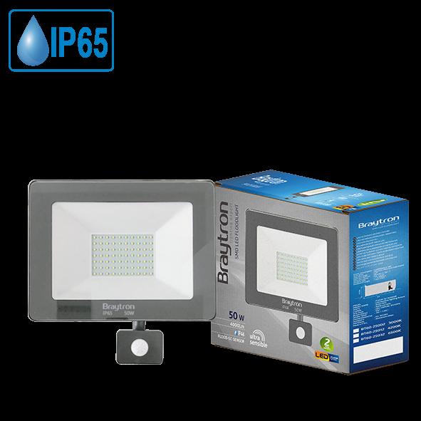 LED Strahler/Fluter 50W=320W 4000Lumen Ip 44 Sensor