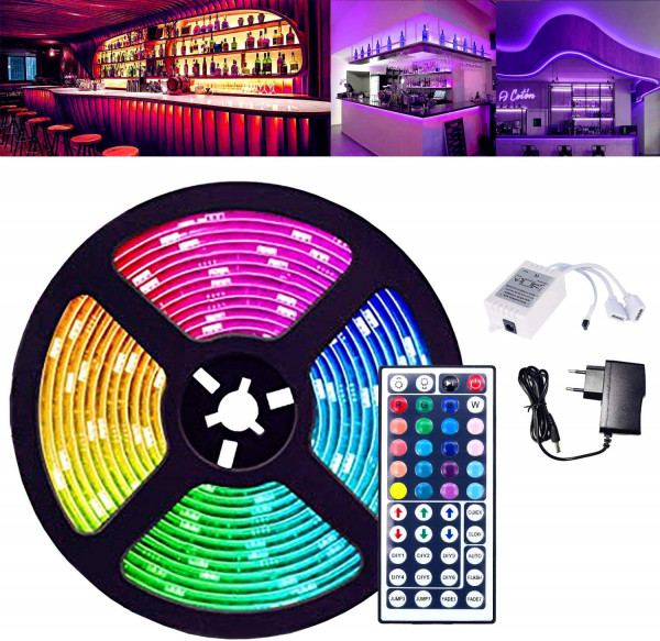 LED Strip RGB 5m Fernbedienung mit 44 Tasten