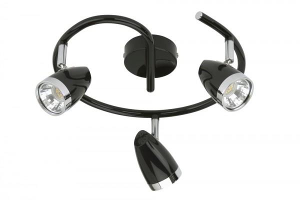 Briloner 2785-035 LED, 3 x 5W 400lm, Strahler dreh- und schwenkbar, schwarz, Deckenleuchte, Deckenlampe