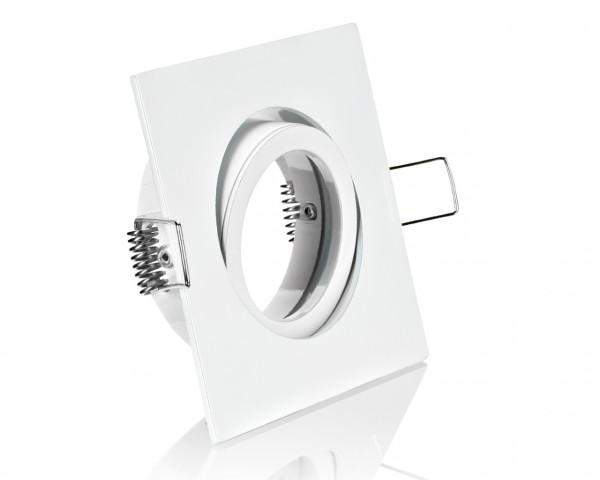 Einbaurahmen Weiß Klickverschluss/Bajonett Flat LED Dimmbar