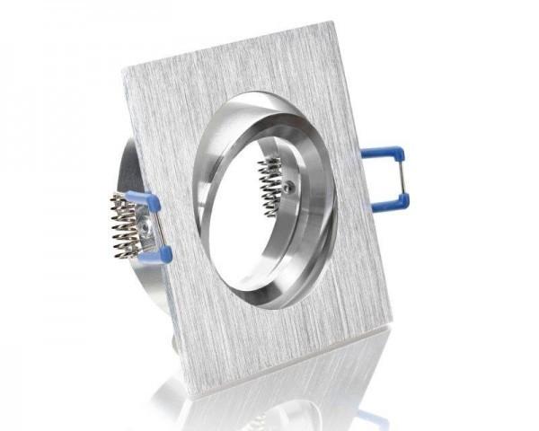Einbaustrahler Aluminium Viereckig Bicolor mit Klickverschluß 68mm