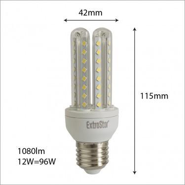 LED Birne E27 12W=96W 1080Lumen Maiskolben
