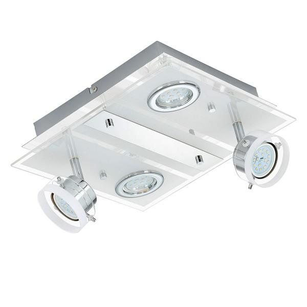Briloner Leuchten LED Deckenleuchte, Deckenlampe, Deckenstrahler, Metall, 20 Watt,