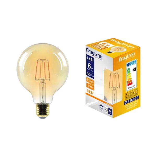 Glühbirne Vintage EDISON E27 6 Watt Groß