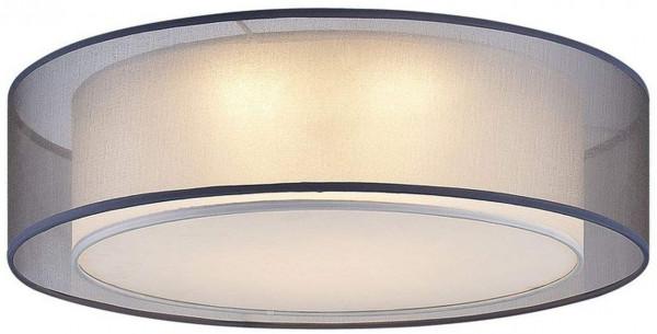 Deckenleuchte Textilschirm Metall Modern Durchmesser 50cm