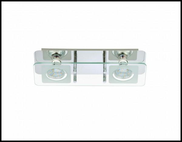 Briloner LED Super Living Led-deckenleuchte chrom 2xGU10,,A+