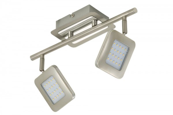 Briloner LED Wand/Deckenleuchte Bassa matt-nickel 2874-022