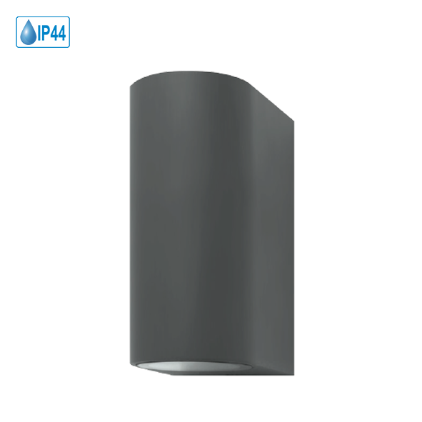 LED Wandleuchte UpDown Aluminium Antrazit inkl. 2x LED GU10 5 Watt
