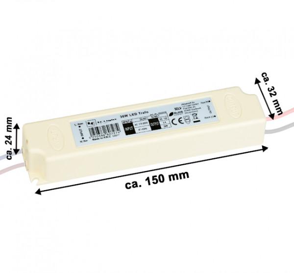 LED Trafo 36 Watt 12V IP 67 Vergossen