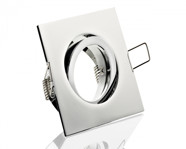 Einbaurahmen Chrom Klickverschluss/Bajonett Flat LED Dimmbar