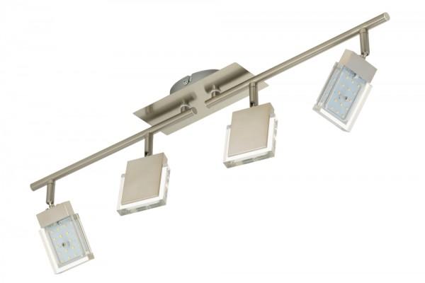 LED Deckenstrahler, 4 x 4,5 Watt, 1350lm, nickel-matt