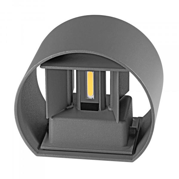 LED Wandleuchte UpDown Alu Antrazit inkl.2x3 W IP54