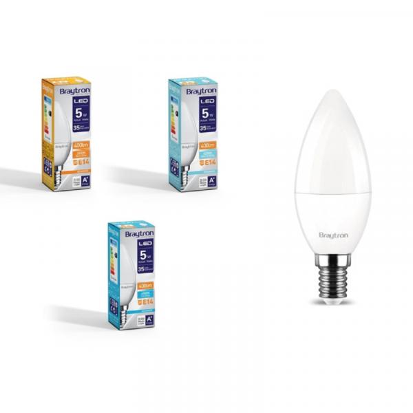 LED Leuchtmittel E14 Kerze C35 5 Watt matt 410 Lumen