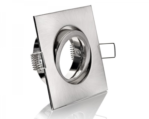 Einbaurahmen Edelstahl Rund Klickverschluss/Bajonett Flat LED Dimmbar