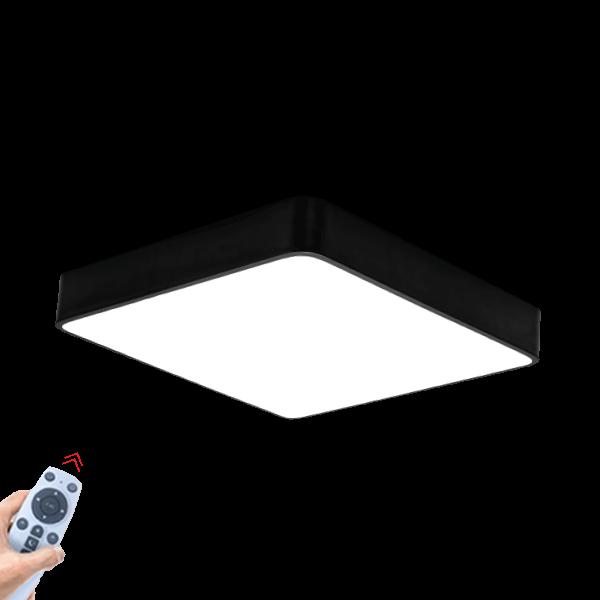 Braytron Decorative Dimmable 45W Deckenlampe Schwarz Eckig Aluminium Körper