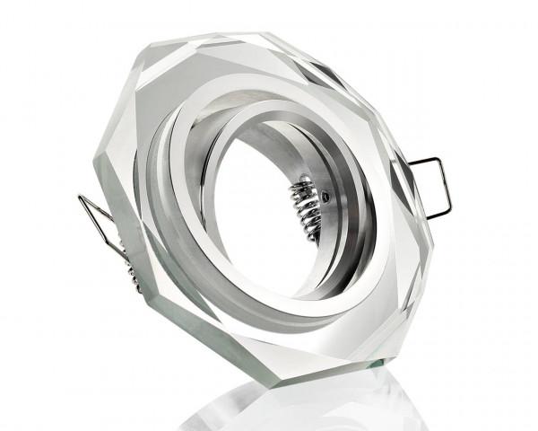 Einbaurahmen aus Glas - 8 Eckig Klickverschluss