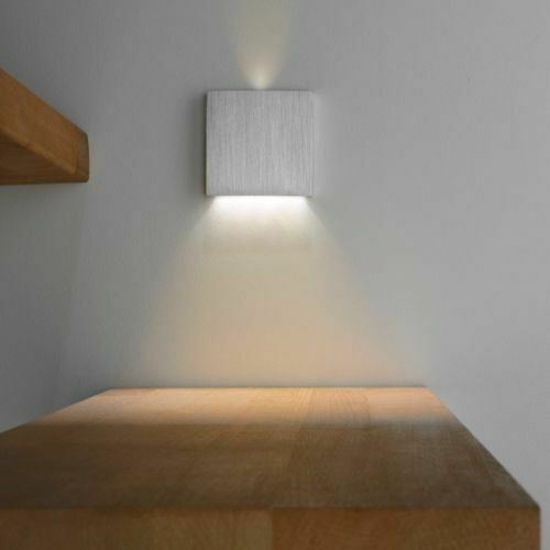 Stufenbeleuchtung Treppen-Stufenlicht Aluminium 1w-100Lumen Warmweiß