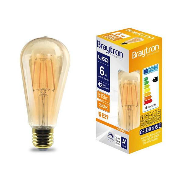 Glühbirne Vintage EDISON E27 6 Watt