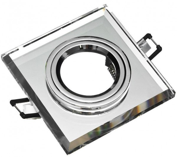 Einbaurahmen aus Glas - Eckig Klickverschluss Verspiegelt