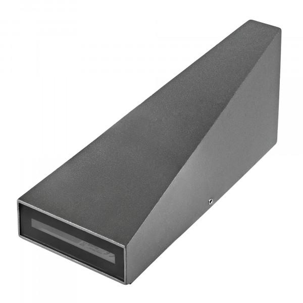 LED Wandleuchte UpDown Aluminium Antrazit inkl. 2x 3 Watt