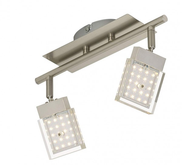 "Briloner ""Dressy"" LED Deckenstrahler, 2x4,5 Watt, 900lm, nickel-matt"